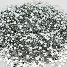 1000 Rhinestones Crystal Clear Flat Back Acrylic 1.5mm Diamond Decoraction Nails