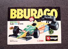 I188-Advertising Pubblicità-1988- BBURAGO , BENETTON FORD , SCALA 1/24