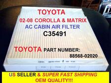 03-08 TOYOTA COROLLA MATRIX CABIN AIR FILTER OEM GRADE Perfect Fit Guarantee!!!