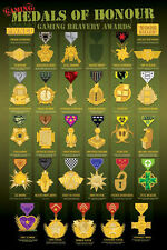 VIDEO GAME POSTER Gaming Medals of Honor