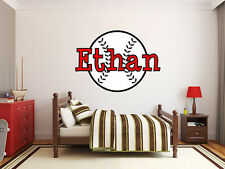"Baseball Name Monogram Sports Room Vinyl Wall Decal Graphics 22"" Tall Wall Decor"