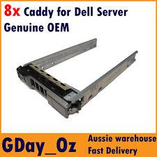 """8x 2.5"""" Dell Server Caddy Bulk Discount Pack G176J G281D PowerEdge PowerVault"""