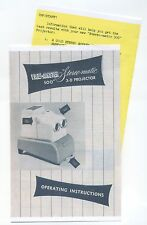 Copy Instruction Manual and Insert for Stereo-Matic 500 View-Master 3D Projector