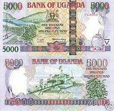 UGANDA 5000 Shillings Banknote World Money Currency p44b 2005 Africa Note Bill