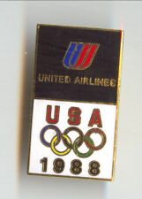 UNITED Airlines Olympic Games 1988 Badge
