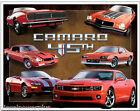 Vintage Replica Tin Metal Sign Chevrolet Camaro Chevy 45th Gm Bowtie Ss 429 1782