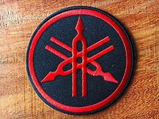 YAMAHA Red Iron On Patch & Sew Motorcycle Motocross Biker Scooter Racing