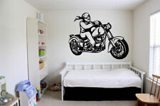 Wall Vinyl Sticker Room Decals Mural Design Chopper Bike Driver Speed bo16780