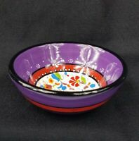 """Turkish Pinar Pottery Hand Painted Bowl Small Cereal Dip Rice Bowl 4 3/4"""""""
