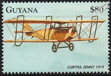 Curtiss Jenny JN-4 Biplano Avión Sello (1998 Guyana)