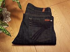 WOMENS SEVEN 7 FOR ALL MANKIND CROP DOJO JEANS SIZE 27 WAIST... VERY NICE!