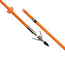 3X Bowfishing Arrows Fiberglass Fish Hunting Broadhead Point Tip & Safety Slide