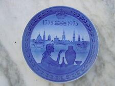 Assiette porcelaine Royal Copenhague 200 Ars Jubileum bicentenary 1775-1975