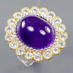 Fine Art SET Amethyst Ring Silver 925 Sterling  Size 7.5 /R164420