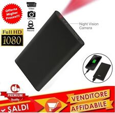 Spy Camera Spia INFRAROSSI spia HD DETECTION TELECAMERA NASCOSTA POWER BANK