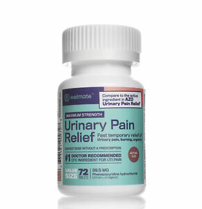 Urinary Pain Relief | 72 Count Tablets | Phenazopyridine HCL 99.5 mg Generic AZO