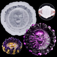 Silicone Skull Ashtray Mold Epoxy Resin Making Mould Casting Jewellery Craft DIY