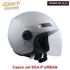 Casco JET con Visiera Lunga SKA-P URBAN Colore Argento Lucido Taglia L 59/60 cm