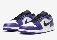 NEW WITH BOX Nike Air Jordan 1 Low Court Purple White GS Grade School 553560-500