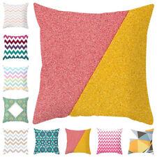 Striped Pillow Case Sofa Waist Throw Cushion Cover Home Decor Nordic Geometric