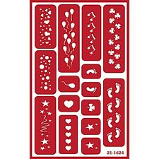 Self Stick Over n Over Glass Etching Stencil Face Paint - Party Ballons Feet