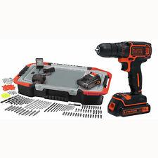 Perceuse Visseuse Sans Fil Black + Decker 650 Trs/mn 2 Batteries 160 Accessoires