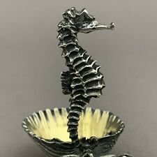 Buccellati Sterling Silver Figural Seahorse Double Shell Salt Cellar 925 Italy
