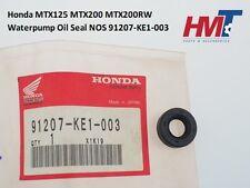 Honda MTX125 MTX200 MTX200RW Water Pump Oil Seal 91207-KE1-003 NOS JAPAN