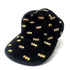 Batman Adjustable SnapBack Hat Black Yellow Logo One Size