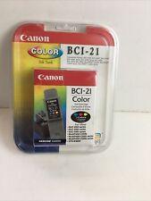 BCI-21 Genuine Canon Color Ink BJC4000 BJC5500 C2500 C3000 C5000 CFX-B380IF