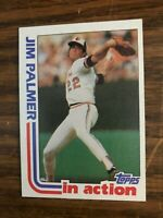 1982 Topps  #81  Jim Palmer Baltimore Orioles In Action  NrMt