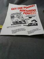 Nintendo Power Super SNES Insert Poster ONLY No Game !! Mario Batman Joker Zelda