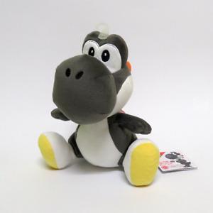 """Yoshi Black plush Super Mario Toy 7.5"""" OFFICIAL SANEI"""