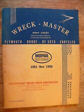 1958 wreck master book service repair manual plymouth dodge de soto chrysler old