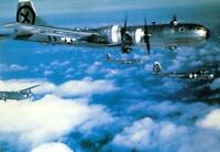 COLOR WW2  Photo, B-29 Formation WWII USAAF World War Two Army Air Corps Boeing