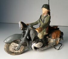 Elastolin Lineol Soldier Dispatch Rider Motorcycle