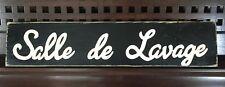 SALLE DE LAVAGE Paris French Chic Laundry Room Sign Wood UPik Color Plaque HP