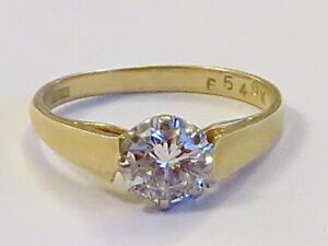 1 CARAT SI/H DIAMOND SOLITAIRE RING IN 18K YELLOW GOLD