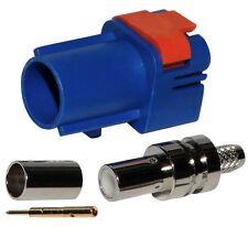Conector FAKRA II SMB macho Azul marino para cable RG174 RG316