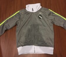 #7 Ronaldo Gray Real Madrid Jacket Soccer Kids Youth Sizes