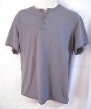 Regular Size XL Foot Locker Gray Button Front T-Shirt Short Sleeve 100% Cotton