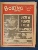 Boxing News Magazine - 13/11/81 - Larry Holmes & Renaldo Snipes Cover