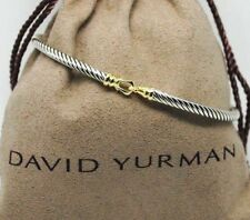 DAVID YURMAN 3mm Cable Buckle Bracelet with 18k Yellow Gold