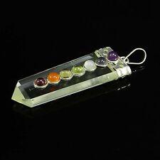 Crystal Clear Quartz Pendant Reiki 7 Chakra Gemstone Spiritual Healing Jewe 9000