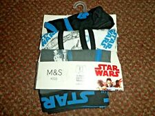 BNIP M/&S Boys 4 Pack Coloured Cotton Stretch Trunks Boxer Shorts 18-24 Months