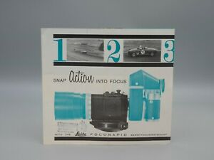 "Original 1963 ""LEITZ FOCORAPID"" Brochure"