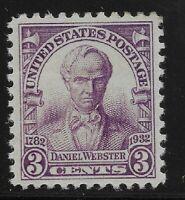 US Scott #725, Single 1932 Webster 3c VF MNH OG