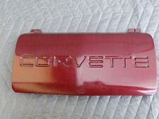 Front Bumper License Plate Cover Fill Ruby Red OEM 1993 C4 Corvette