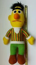 Vintage Bert Muppets Doll Sesame Street Plush Playskool Yellow Green 1984