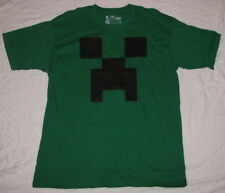 MEDIUM T-SHIRT MENS MINECRAFT VIDEO GAME CREEPER GRAPHIC TEE FACE LOGO GREEN NEW
